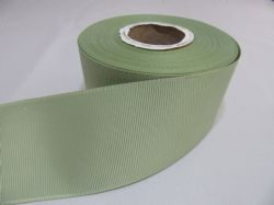 Moss Dusky Sage Green Grosgrain ribbon Ribbed Double sided 3mm, 6mm 10mm 16mm 22mm 38mm 50mm